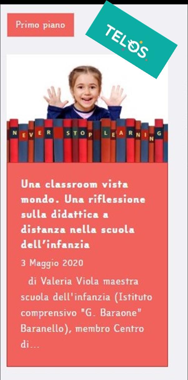 Una classroom vista mondo di Valeria Viola