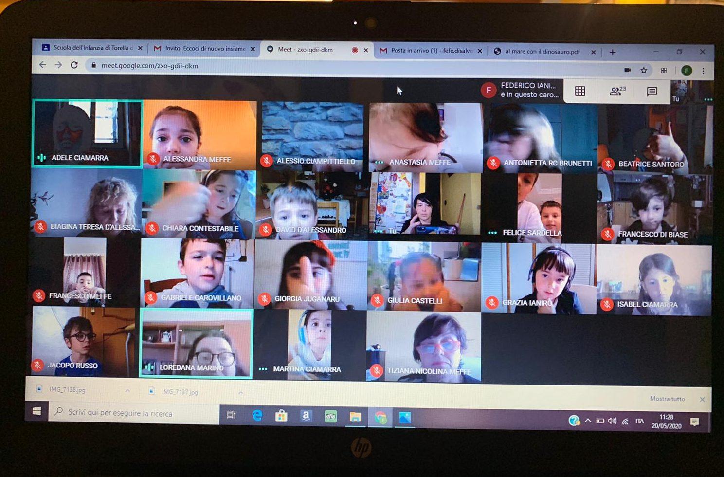 Incontro di continuità: Scuola dell'Infanzia e classe prima della Scuola Primaria di Torella del Sannio  in videocall