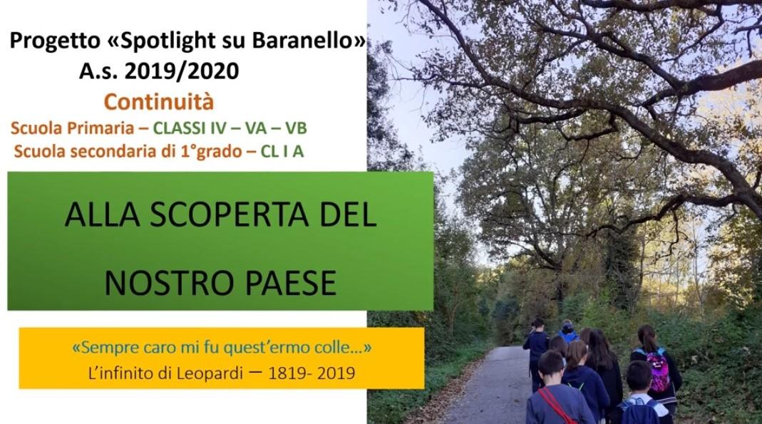 Spotlight su Baranello: progetto Continuità Scuola Primaria- Scuola Secondaria di primo grado di Baranello