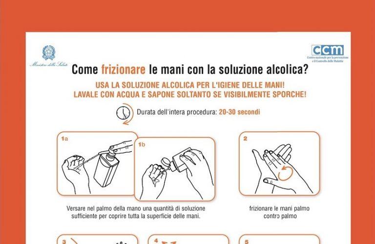 ANTICOVID: come frizionare le mani con la soluzione alcolica