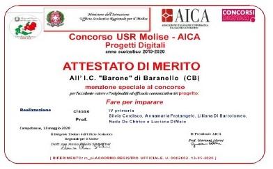 Premiazione concorso USR Molise – AICA