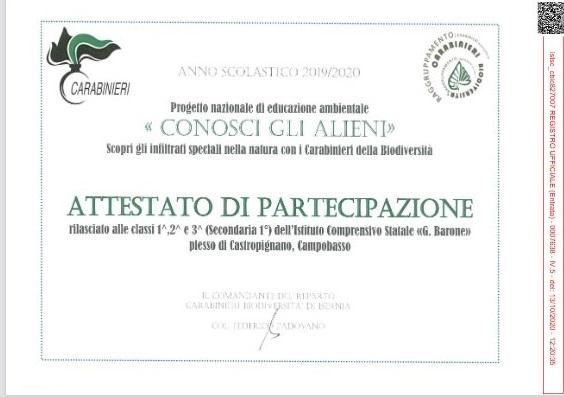 Progetto – Conosci gli alieni – Plesso di Castropignano