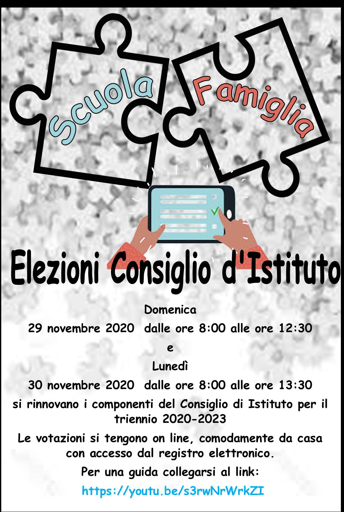 Elezioni Consiglio di Istituto – triennio 2020/2023