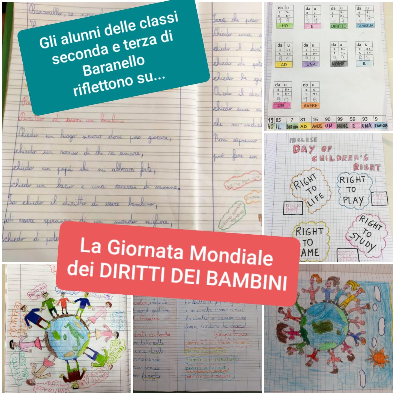 La Giornata Mondiale dei DIRITTI DEI BAMBINI – classi seconda e terza Primaria di Baranello