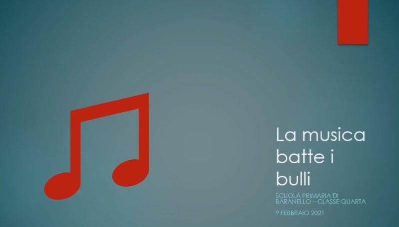La musica batte i bulli – Classe quarta della Scuola Primaria di Baranello