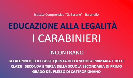 Educazione alla legalità – Carabinieri a scuola