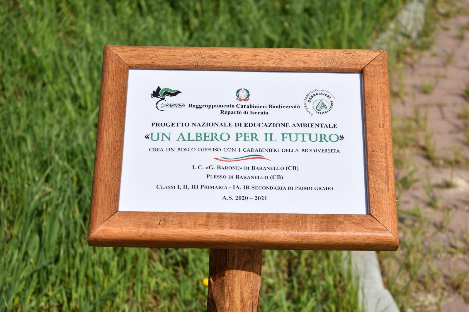 27 aprile 2021 – Progetto ambientale con la presenza del comando dei carabinieri della Forestale