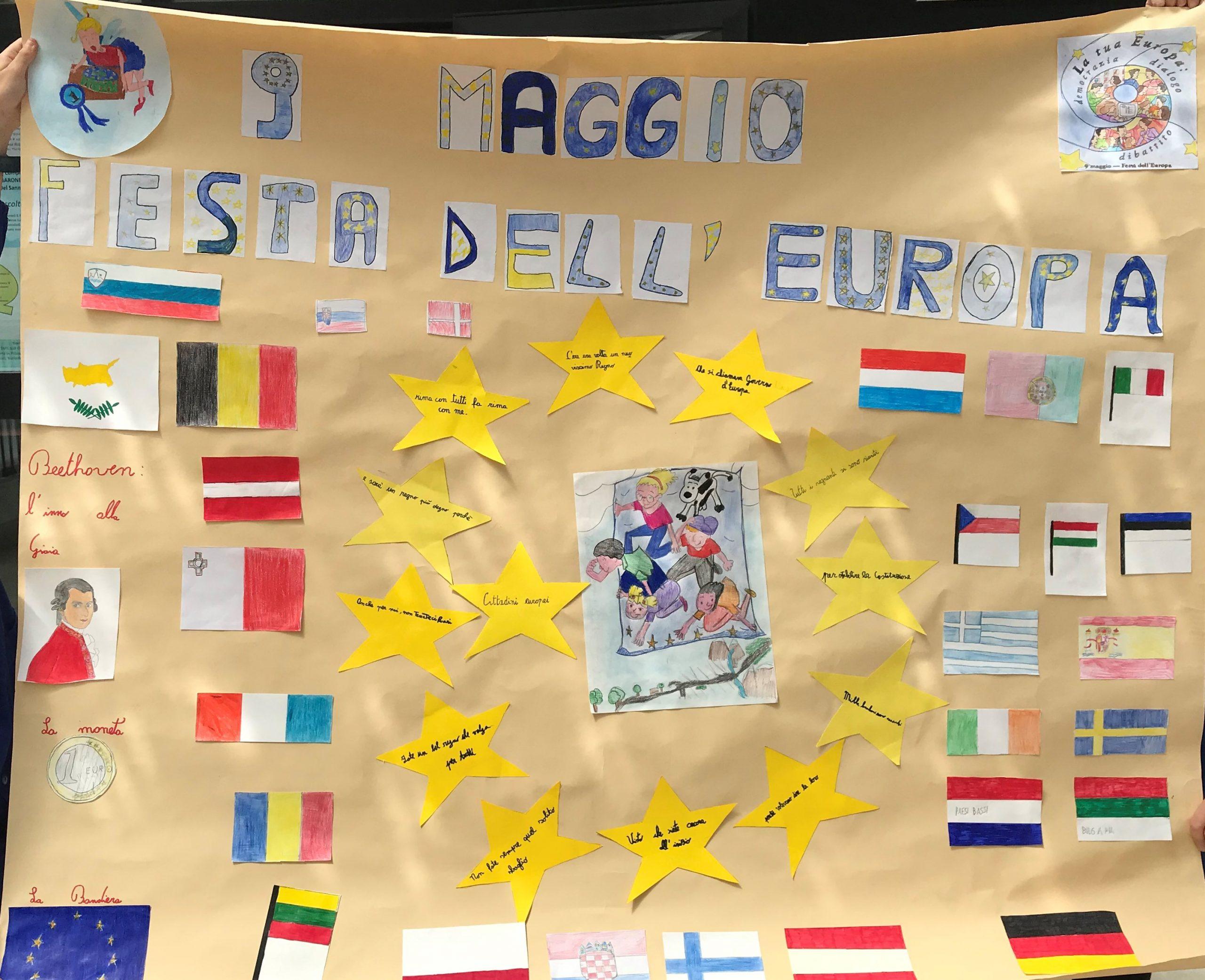 La festa dell'Europa – Classe 5ª della Scuola Primaria di Torella del Sannio