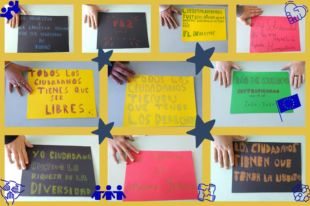 El dìa  de Europa: nuestros lemas – Scuola Secondaria di I° di Castropignano