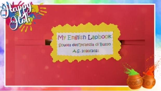 """Lapbook realizzato con i bambini dell'ultimo anno della Scuola dell'Infanzia di Busso nell'ambito del progetto """"The English Corner"""""""
